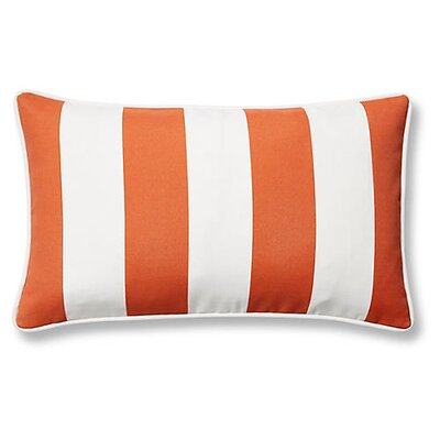 New Bedford Outdoor Lumbar Pillow Color: Orange