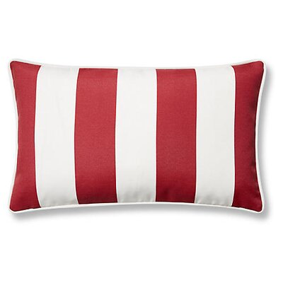 New Bedford Outdoor Lumbar Pillow Color: Red