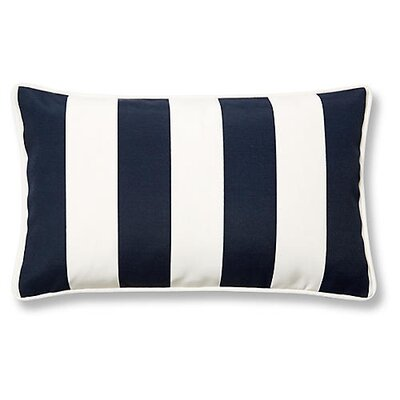 New Bedford Outdoor Lumbar Pillow Color: Navy