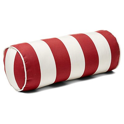 New Bedford Outdoor Bolster Pillow Color: Red