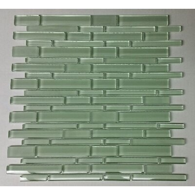 12 x 12 Glass Random Strip Mosaic Clear & Frosted MAG-053-ST