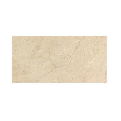 Crema Marfil 6 x 12 Polished Marble Tile