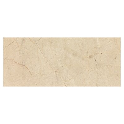 Crema Marfil 12 x 24 Marble Field Tile in Beige
