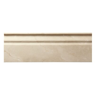 Crema Marfil 3/4 x 12 Marble Penna Molding Polished