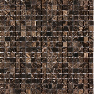 Dark Emperador 5/8 x 5/8 Square Mosaic Polished