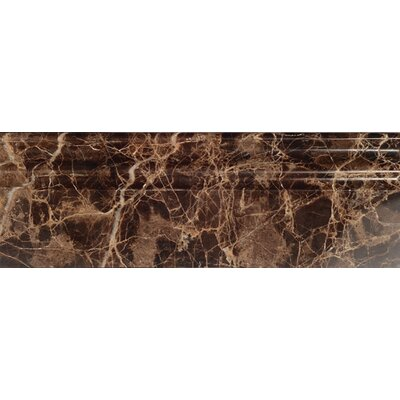 Dark Emperador 2 1/3 x 12 Marble Penna Molding Polished