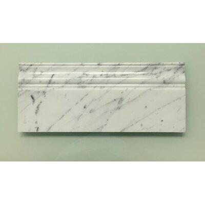Bianco Carrara 2 1/3 x 12 Marble Penna Molding Tile