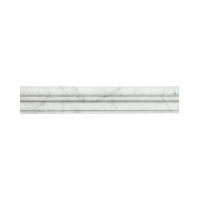 Bianco Carrara 2 x 12 Marble Crown Molding Tile