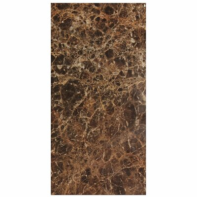 Dark Emperador 12 x 24 Marble Field Tile in Gray