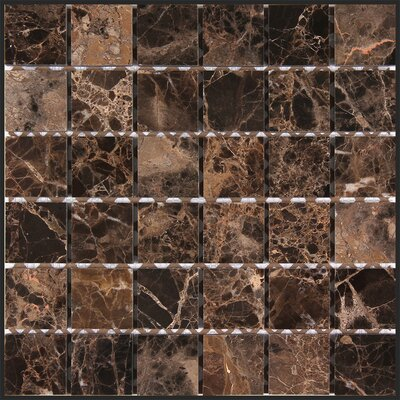 Dark Emperador 2 x 2 Square Mosaic Polished