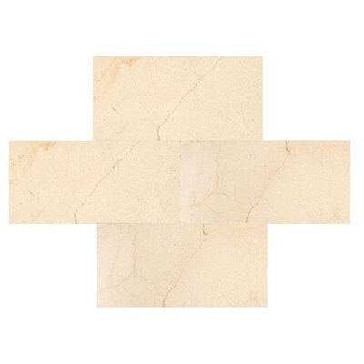 Crema Marfil 3 x 6 Marble Field Tile in Beige