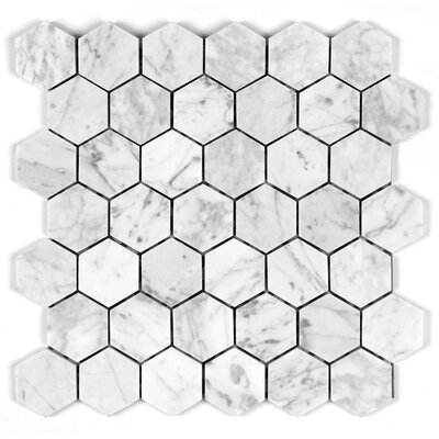 Bianco Carrara 2 Honey Comb Mosaic Tile