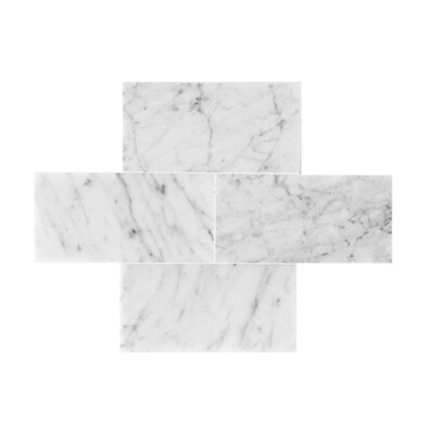 Bianco Carrara 3 x 6 Polished Marble Tile