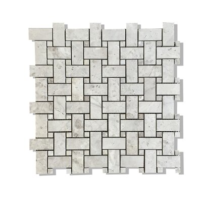 Silver Galaxy Basket Weave Mosaic Polished with Silver Galaxy Dot