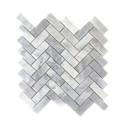 2 1/2 Herringbone Mosaic Polished in Blue Argentino