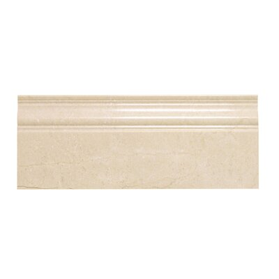 Crema Marfil 5 x 12 Marble Base Molding Polished