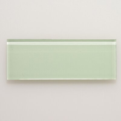 3 x 8 Glass Field Tile in Light Green
