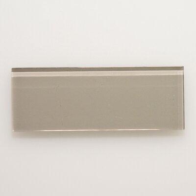 3 x 8 Glass Field Tile in Light Gray