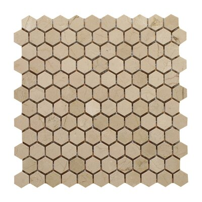 Crema Marfil 1 Honey Comb Polished Mosaic Tile