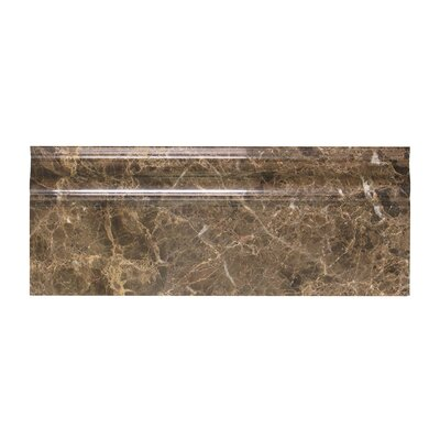 Dark Emperador 2 x 12 Marble Crown Molding Polished
