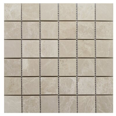Botticino Square 2 x 2 Mosaic Tile In Brown