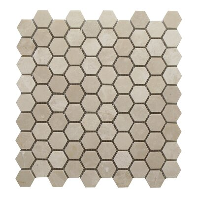 Botticino Honey Comb 1.25 x 1.25 Marble Mosaic Tile In Brown