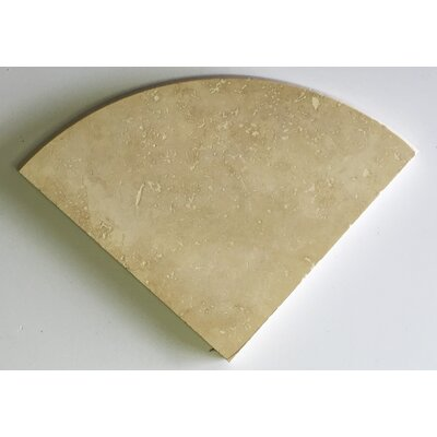 Light Travertine 25 x 12 Marble Corner Piece Tile Trim in Beige