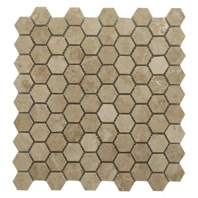 Cappuccino Honeycomb 1.25 x 1.25 Marble Mosaic Tile in Beige