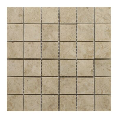 Cappuccino Square 2 x 2 Marble Mosaic Tile in Beige