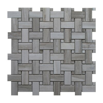 Palissandro Marble Mosaic Tile in Dark Gray