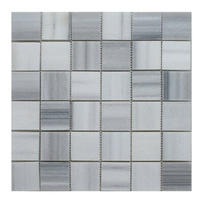 Equator Square 2 x 2 Marble Mosaic Field Tile in Gray