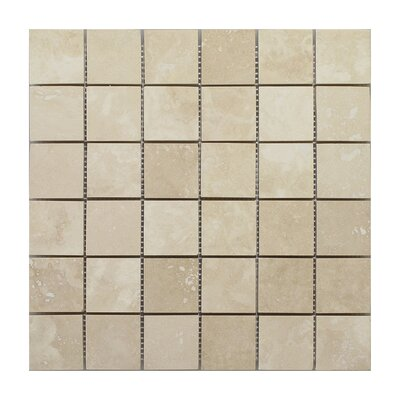 Emperador Light Square 2 x 2 Marble Mosaic Tile in Beige