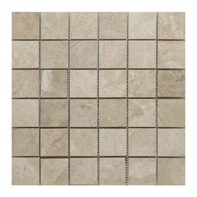 Diana Royal Square 2 x 2 Marble Mosaic Tile in Beige