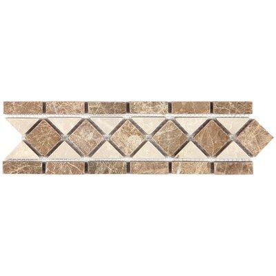 Emperador Light 3.25 x 12 Marble Classic Border Tile in Beige
