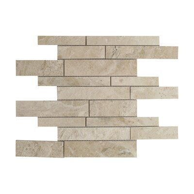 Diana Royal Strip Marble Mosaic Tile in Beige