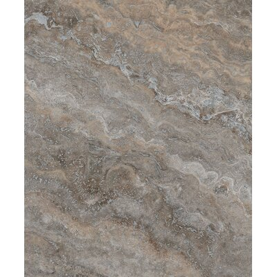 Silver Trevertine 12 x 12 Marble Field Tile in Brown