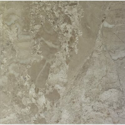 Diana Royal 6 x 6 Marble Field Tile in Beige