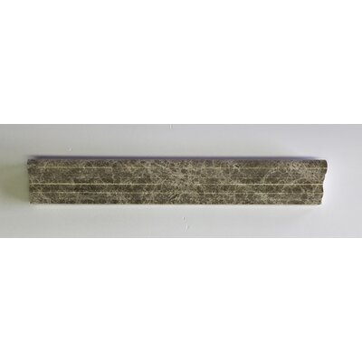 Nevada 12 x 2 Marble Counter Rail Tile Trim in Dark Gray