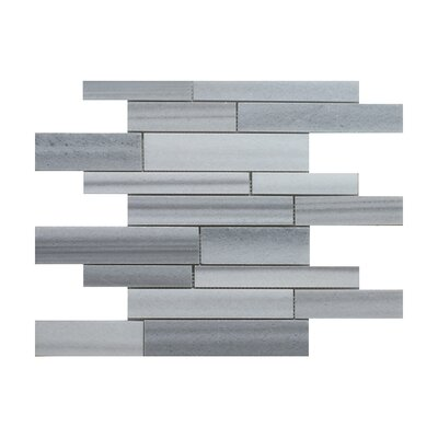 Equator Strip Bar Random Sized Marble Mosaic Tile in Gray