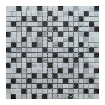 Equator 1 x 1 Marble Mosaic Tile in Gray