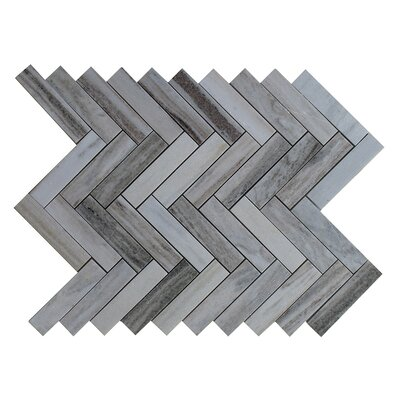 Palissandro 1 x 4 Marble Mosaic Tile in Gray