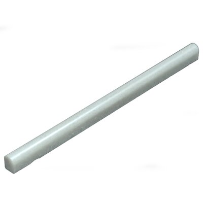 Equator 12 x .75 Marble Bullnose Tile Trim in Gray
