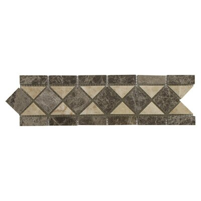 Cappuccino 3.25 x 12 Marble Classic Border Tile in Beige