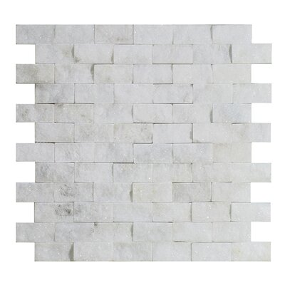 Milas 1 x 2 Marble Mosaic Tile in White