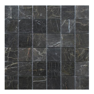 Nevada 2 x 2 Marble Mosaic Tile in Dark Gray