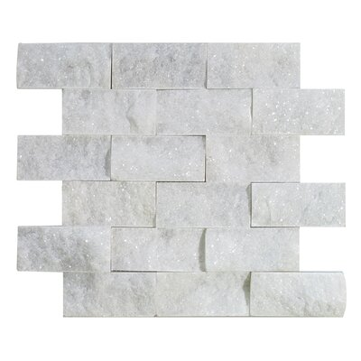 Milas 2 x 4 Marble Mosaic Tile in Polished White