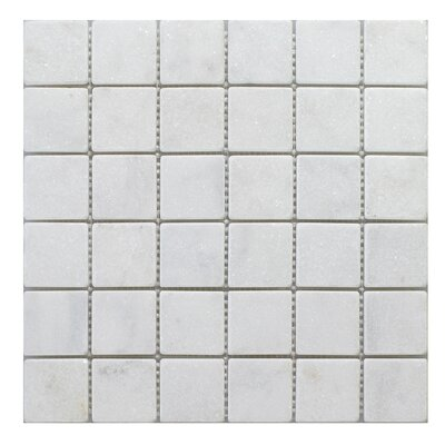 Milas 2 x 2 Marble Mosaic Tile in White