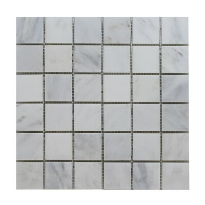 Arabescato Square Polished 12 x 12 Natural Stone Mosaic Tile in Gray