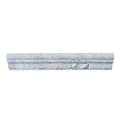 12 x 2 Marble Counter Rail Tile Trim in Blue