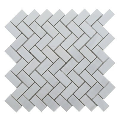 Dolomite Herringbone Polished 12 x 12 Natural Stone Mosaic Tile in Beige